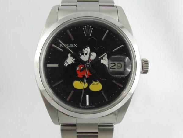 Rolex Oyster Precision Mickey Mouse Topolino Nero Black
