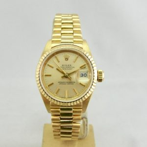 Rolex Lady-Datejust 18k Gold Oro President Full set