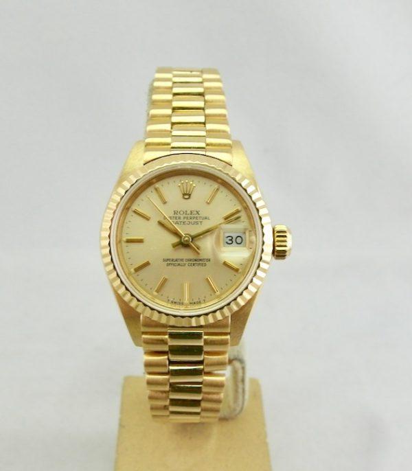 Rolex Lady-Datejust 18k Gold Oro President Full set